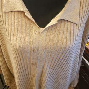 Venezia size 24 gold glitter sweater